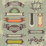 Grupo de fitas e de etiquetas do vintage. Fotos de Stock Royalty Free