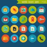 Grupo detalhado na moda do ícone da Web Imagens de Stock