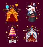 Grupo detalhado realístico do circo 3d Vetor Fotos de Stock