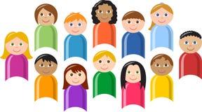 Grupo diverso de crianças ilustração do vetor