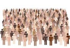 Grupo diverso de la gente de la población Imagenes de archivo
