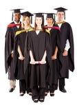 Grupo diverso de los graduados Foto de archivo libre de regalías