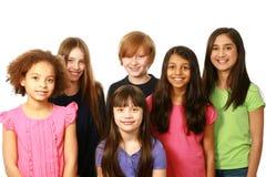 Grupo diverso de muchachos y de muchachas Imagen de archivo