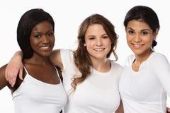 Grupo diverso de mujeres hermosas imagenes de archivo