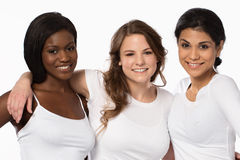 Grupo diverso de mulheres bonitas imagens de stock