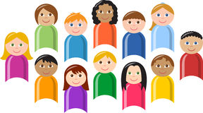 Grupo diverso de niños