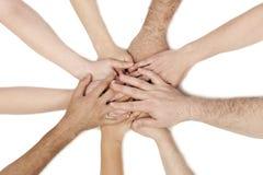 Grupo diverso de trabajadores del asunto Imagen de archivo libre de regalías