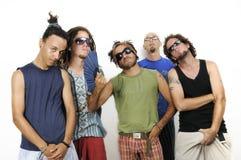 Grupo diverso dos amigos masculinos Fotos de Stock