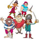 Grupo divertido del charactersb de la historieta del pirata de la fantasía libre illustration