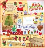 Grupo do álbum de recortes do Natal Fotografia de Stock Royalty Free