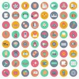 Grupo do ícone do App Ícones para Web site e aplicações móveis liso ilustração royalty free