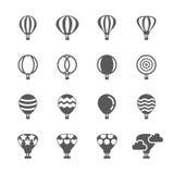 Grupo do ícone do balão de ar quente ilustração stock