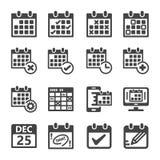 Grupo do ícone do calendário ilustração stock