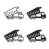 Grupo do ícone do caminhão Fotografia de Stock