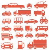 Grupo do ícone. Carros Foto de Stock