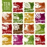 Grupo do ícone do chá do vetor Fotografia de Stock