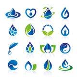 Grupo do ícone da água Foto de Stock