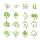 Grupo do ícone da árvore ilustração royalty free