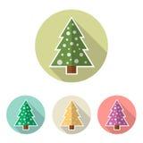 Grupo do ícone da árvore de Natal Foto de Stock