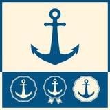 Grupo do ícone da âncora Imagem de Stock