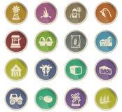 Grupo do ícone da agricultura Imagens de Stock Royalty Free