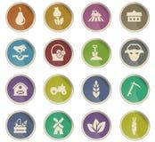 Grupo do ícone da agricultura Foto de Stock Royalty Free