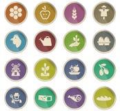 Grupo do ícone da agricultura Fotografia de Stock