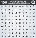 Grupo do ícone da agricultura Imagem de Stock Royalty Free