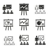 Grupo do ícone da apresentação Foto de Stock