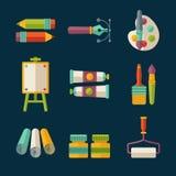 Grupo do ícone da arte ilustração do vetor