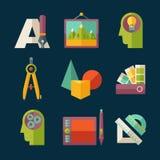 Grupo do ícone da arte ilustração royalty free