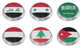 Grupo do ícone da bandeira da nação Imagem de Stock Royalty Free