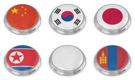 Grupo do ícone da bandeira da nação Fotografia de Stock Royalty Free