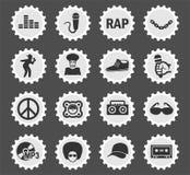 Grupo do ícone da batida ilustração stock