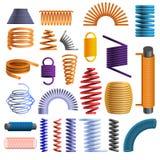 Grupo do ícone da bobina, estilo dos desenhos animados ilustração stock