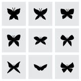 Grupo do ícone da borboleta do vetor Imagem de Stock Royalty Free