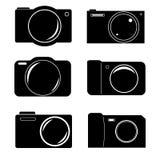 Grupo do ícone da câmera Fotografia de Stock Royalty Free