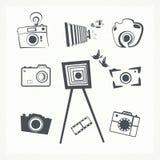 Grupo do ícone da câmera da foto Foto de Stock Royalty Free