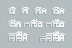 Grupo do ícone da casa ilustração do vetor