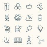 Grupo do ícone da ciência Fotografia de Stock