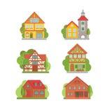 Grupo do ícone da cidade Imagens de Stock Royalty Free