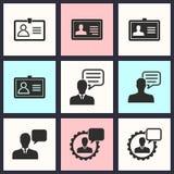 Grupo do ícone da consultoria de gestão Imagens de Stock