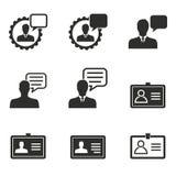 Grupo do ícone da consultoria de gestão Fotos de Stock