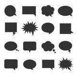 Grupo do ícone da conversa da bolha foto de stock