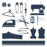 Grupo do ícone da costura Fotos de Stock