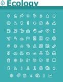 Grupo do ícone da ecologia Fotografia de Stock