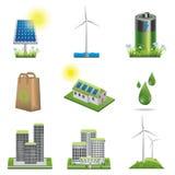 Grupo do ícone da ecologia Imagens de Stock