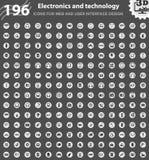 Grupo do ícone da eletrônica ilustração royalty free