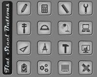 Grupo do ícone da engenharia ilustração royalty free