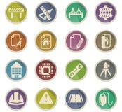 Grupo do ícone da engenharia ilustração stock